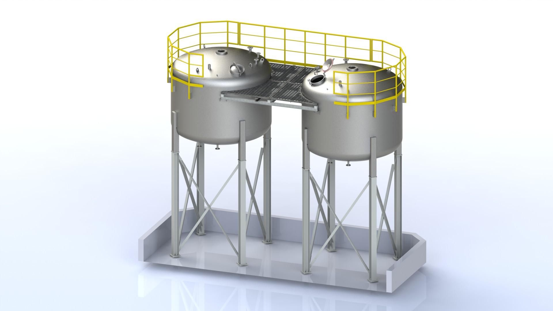 Schlichtebehälter System 2x25,5m² A02 V01